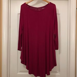 Roaman's Plum Boat Neck Tunic Dress Size 18/20